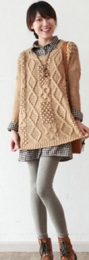 Туника-свитер спицами