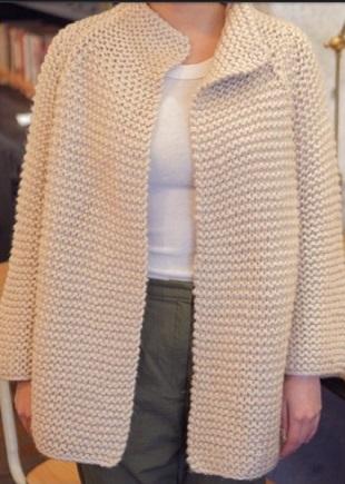 Вязание реглана рукава от горловины спицами